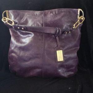 Badgley Mischka Distressed Leather Bag